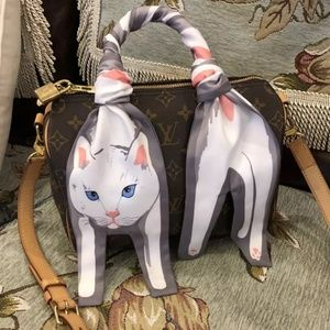 Accessories - Fall Fashion Designer Cat Bag Neck Twilly Scarf